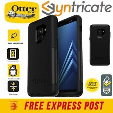 OTTERBOX COMMUTER SLIM TOUGH STRONG CASE FOR SAMSUNG GALAXY A8 (2018) - BLACK