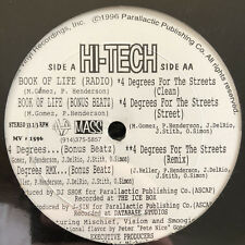 "HI-TECH - BOOK OF LIFE / 4 DEGREES FOR THE STREETS (+REMIX) (12"")  1996!!  RARE"