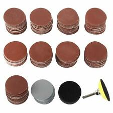 300PCS 2 Inch Sanding Discs Kit with 1/4 Inch Shank Backing Pad& Buffering Pad