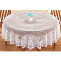 Weiß Tischdecke Vintage Rund Spitze Deckchen Hochzeit Party Weihnachten 178cm