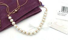 Bronzallure Milano Damen Halskette Collier Perlen Rosegold Natural Gemstones (c)