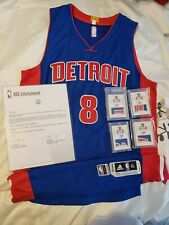 Spencer Dinwiddie NBA Game Worn Debut Rookie Jersey Meigray & National Treasures