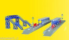 N S-Bahn Stop with Crossover Bridge, Model World Kit 1:160, Kibri 37756