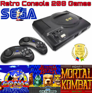 Sega Genesis Retro Console Console 208 Games Included Retro Console 16 Bit Games