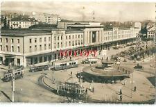 CPA Suisse Genève Gare de Cornavin 1952 tramway autobus camion