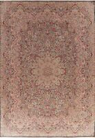 Vintage Floral Oriental Area Rug Wool Hand-Knotted Palace Size Carpet 11x16