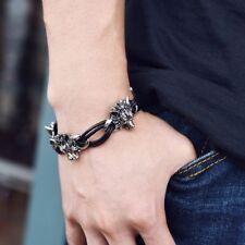 Leather Men's Bracelet Gift Wolf Style Men's Jewelry Bracelets Bangles Fashion