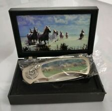 Pocket Knife, With Horses On The Handle.