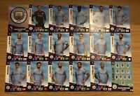 PANINI ADRENALYN XL PREMIER LEAGUE 2020/21 TEAM SET OF ALL 18 MANCHESTER CITY