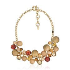 Collier TOMMY HILFIGER doré Perles en Cristal et Bois Neuf Authentique