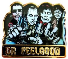 OLD SKOOL DR FEELGOOD WILKO JOHNSON METAL & ENAMEL TYPE PIN BADGE