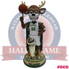 Milwaukee Bucks 1971 NBA Champions Bango Mascot Bobblehead - #'d to 216 NEW!