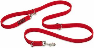 Double Ended Halti Training Lead For Dog, Head Collar and No Pull Harness, Red