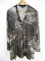 LIZ JORDAN Size 16 XL mesh overlay long sleeved designer top $49