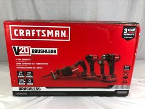 NEW Craftsman CMCK420D2 4 Tool Combo Set 20V Brushless