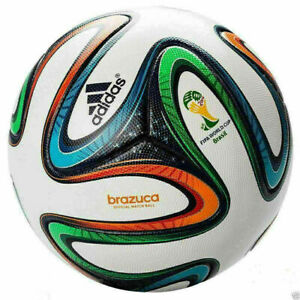 ADIDAS BRAZUCA OFFICIAL SOCCER MATCH BALL 2014 WORLD CUP - BRAZIL - SIZE 5