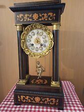 XL (51 cm) Schaukler Pendule, 19. Jh Intarsien, Bronze Pendel, Selten & VIDEO