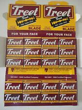 50 Treet Carbon Blue Double Edge Razor Blades