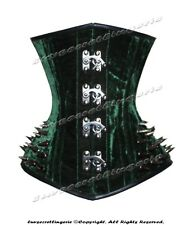 18 Double Steel Boned Waist Training Velvet Underbust Shaper Corset #8337-SB-VEL