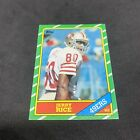 1986 Topps Jerry Rice Rookie RC Football San Francisco 49ers #161