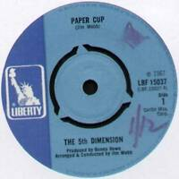 "[JIMMY WEBB] 5th DIMENSION ~ PAPER CUP / POOR SIDE OF TOWN ~ 1967 UK 7"" SINGLE"