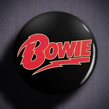 DAVID BOWIE Pin Badge Button (1 inch 25mm) Ziggy 1970s British Glam Rock Music