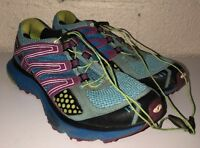Salomon Mens XR Mission Multi Color Pull Tighten Athletic Shoes Sz 9 NO INSOLES