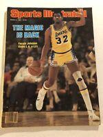 1981 Sports Illustrated LA Lakers EARVIN MAGIC JOHNSON Returns to NBA No Label