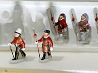 Dept 56 Yeomen Of the Guard 5 set 58397 Heritage Village Retired Beautiful