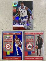 2019-20 OPTIC CONTENDERS 3x PAUL GEORGE COLLINS HARRELL LOT BLUE SILVER PRIZM