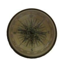 Antique Brass Desk Marine Directional Compass Nautical Paperweight