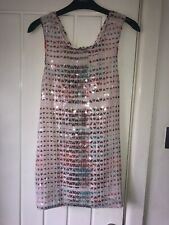 Next Size 6 Sequin Pattern Top Pink BNWT