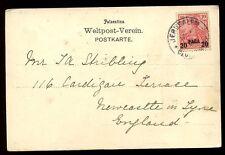 Alemania Levant Imperio Otomano Jerusalem Post Office 1904 PPC a Reino Unido