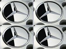 Genuine Mercedes Wheel Center Caps W123 C W124 A124 C124 E-Class FULL CHROME