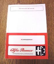 Manuale officina carrozzeria Alfa Romeo Giulia – 1750 Berlina – GT-