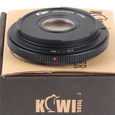 Kiwifotos Adaptador Objetivos Canon Montura FD en Cámaras Canon EOS