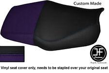 Púrpura Y Negro Automotriz Vinilo personalizado para Honda CBR 600 F Dual 91-96 Funda De Asiento