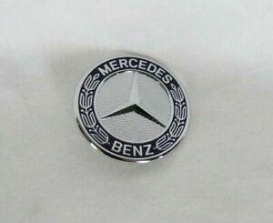 MERCEDES HOOD STAR EMBLEM FRONT BLUE/CHROME ROUND BADGE sign symbol logo