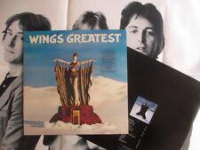 Wings (ft Paul McCartney) rare NZ Parlophone pressing Lp + insert - Greatest