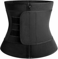Vaslanda Sauna Waist Trainer Corset Neoprene Fitness Trimmer, Black, Size
