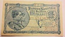 1 Franc, 1920 1 Frank KM:92 Biljet, België Belgique Belgium
