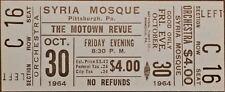 MARVIN GAYE - 1964 MOTOWN REVUE - FULL & UNUSED ORIGINAL VINTAGE CONCERT TICKET