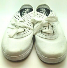 Keds Women's White Mules Sz 6.5 Slip Ons Perforated /Vented Lace Up  Casual