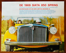 Siata Spring brochure Prospekt, 1969 (Dutch text)
