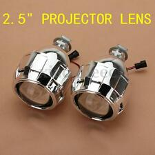 "2pcs 2.5"" Mini Bi-Xenon HID Projector Kit Lens Car Hi/Lo Headlights Shroud US"