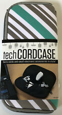 Tech Cord Case Electronic Accessories Stripes Pattern 4 Roomy Pockets