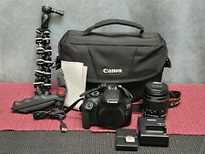 CANON EOS REBEL T6 DIGITAL SLR CAMERA W/ EF-S 18-55mm LENS AND EXTRAS