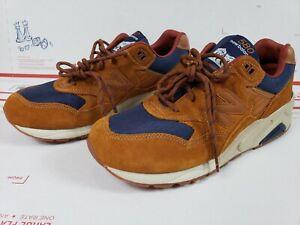 New Balance 580 Mens Size 9.5 D  Running Shoes Cordura Brown Navy Blue MT580SB