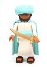 Playmobil Figure Arab Warrior Turban Cape Gold Sword Sandals Special 4521 RARE
