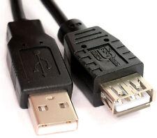 5M de alta velocidad USB 2.0 Cable De Extensión Un Enchufe Macho-hembra plomo Negro